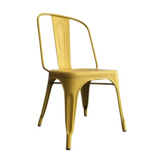 Yellow Tolix Chairs - A Pair