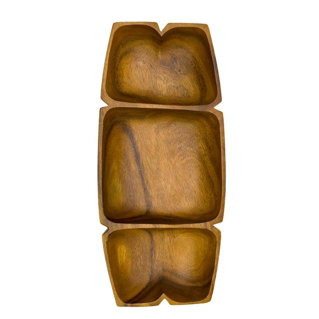 Vintage Monkey-Pod Wood Tray - Image 2 of 4
