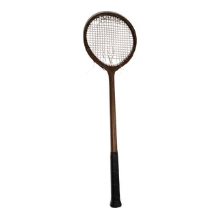 Antique Bramall's Badminton Racquet Decor