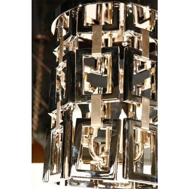 Paul Marra Link Fixture in Polished Nickel & Brass - Image 5 of 6