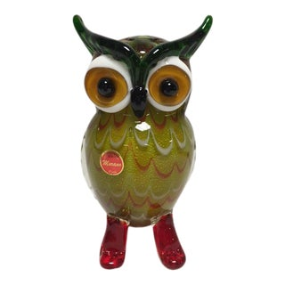 Murano Art Glass Owl