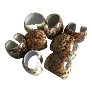 Natural Sea Shell Napkin Holders - Set of 8