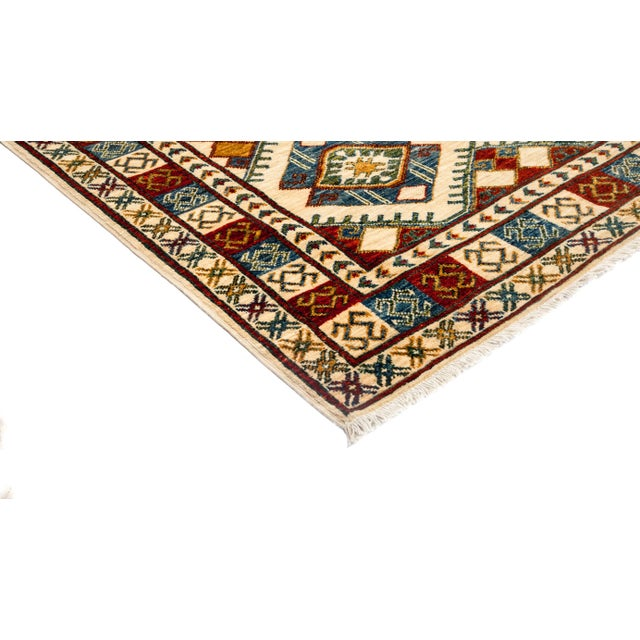 """Image of New Tribal Traditional Hand Knotted Area Rug - 3'10"""" x 5'10"""""""