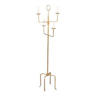 Parzinger Style Gilt Metal Floor Lamp