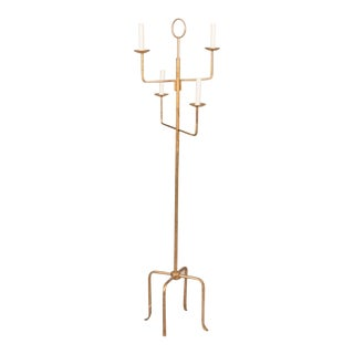 Parzinger Style Gilt Metal Floor Lamp