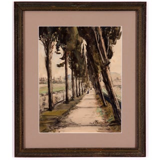Monory 1936 French Country Path Painting