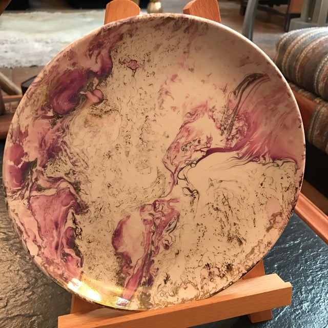 Midcentury Sasha Brastoff Ceramic Plate - Image 4 of 7
