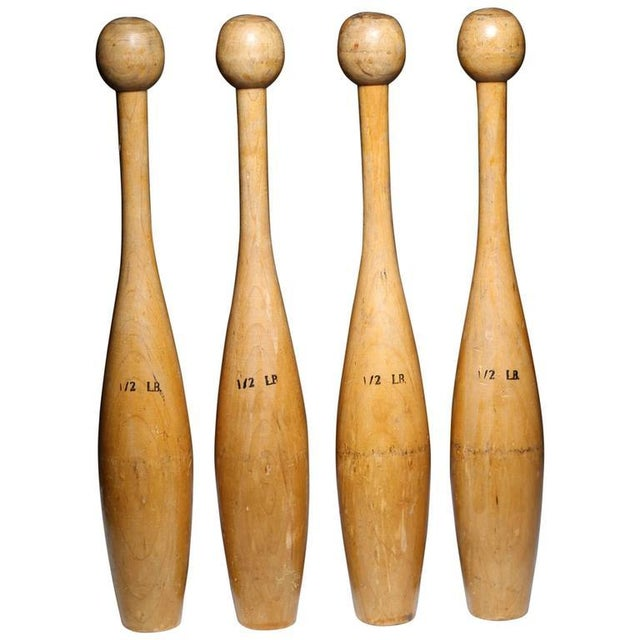 Vintage Juggling Pins - Set of 4 - Image 2 of 2