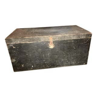 Antique Solid Wood Carpenter Tool Chest