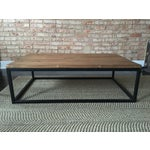 Image of ABC Carpet & Home Wood and Steel Coffee Table
