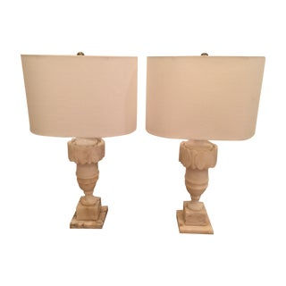 Marble Table Lamps - A Pair