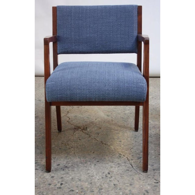 Set of Six Walnut Dining Chairs by Jens Risom - Image 9 of 11