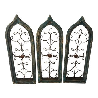Antique Window Frames - Set of 3