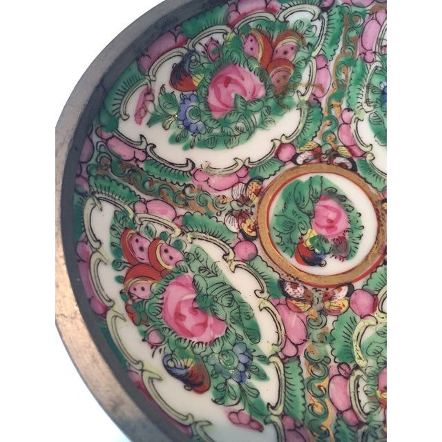 Hand Painted Ceramic & Pewter Dish - Image 7 of 10