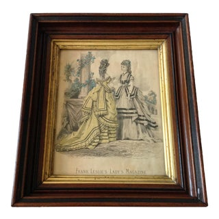 Antique Parisian Fashion Plate