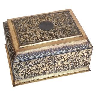 Sarreid Vintage Indian Brass Repousse Box