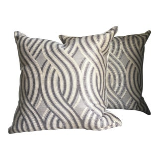 Embrace Pewter Swirl Pillows - A Pair