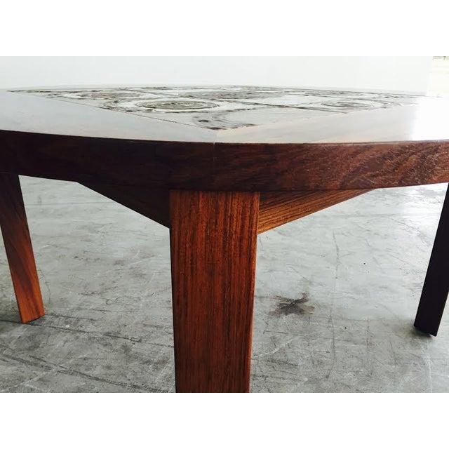 Vintage Danish Rosewood & Tile Top Coffee Table - Image 9 of 9