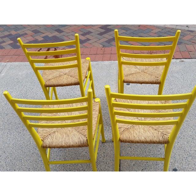 Mid-Century Gio Ponti Style Chairs - Set of 4 - Image 6 of 11