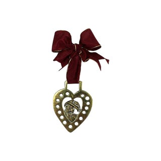 Antique Victorian Woman Heart Ornament