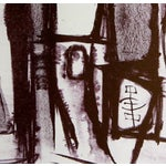 Image of Monochromatic Mid-Century Abstract Lithograph