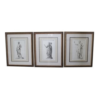 Classical Roman Statues Engravings - Set of 3