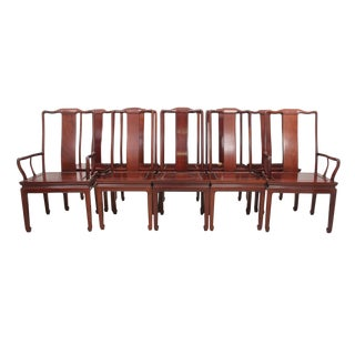 Ming Style Rosewood Dining Chairs - Set of 10