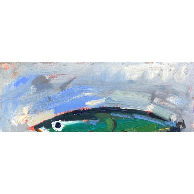 """Green Fishing Lure"" Painting - Image 9 of 11"