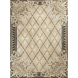 Contemporary Hand Knotted Wool Rug - 8′10″ × 12′