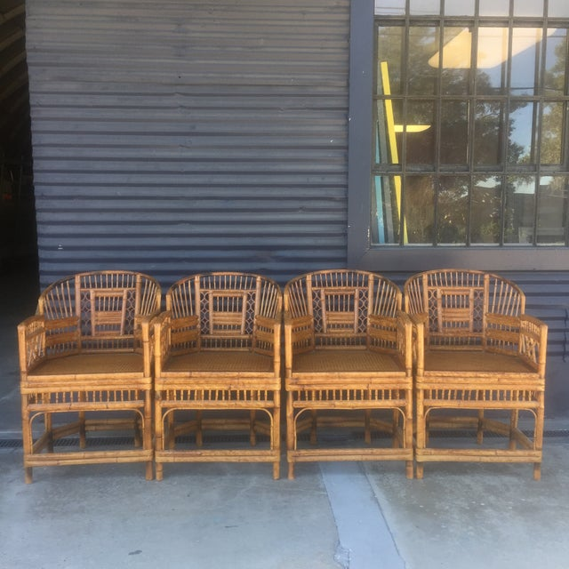 Vintage Brighton Style Rattan Chairs- Set of 4 - Image 2 of 9