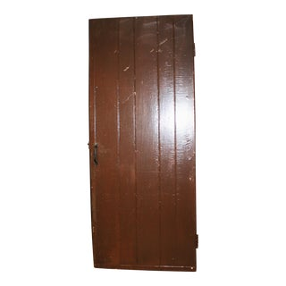 Vintage Rustic Brown Wood Barn Door