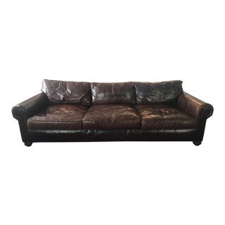 Restoration Hardware Lancaster Luxe Leather Sofa