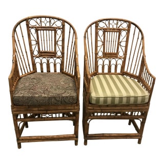 Bamboo Brighton Chippendale Chairs - A Pair