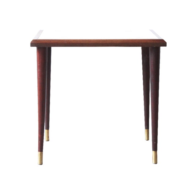 White Mosaic Top Side Table - Image 1 of 3