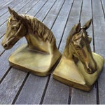 Image of Vintage Brass Horse Bookends