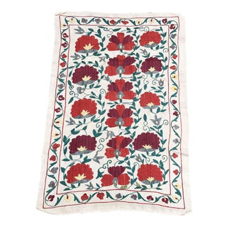 Silk & Cotton Suzani Floral Bedspread
