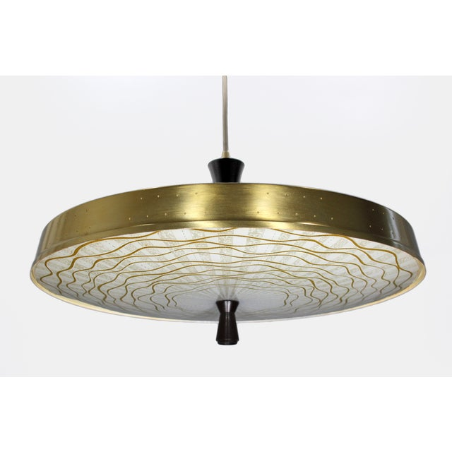 Classic 50s Pendant With Murano Glass Shade - Image 2 of 6