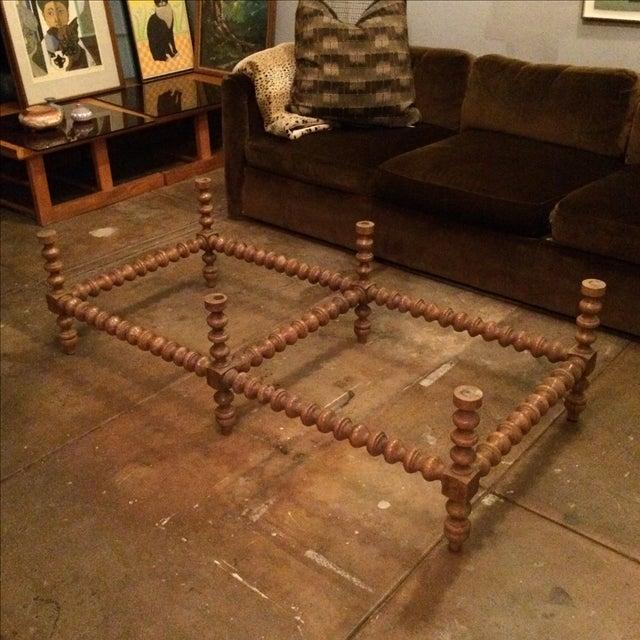 Image of Vintage Turned Wood Table