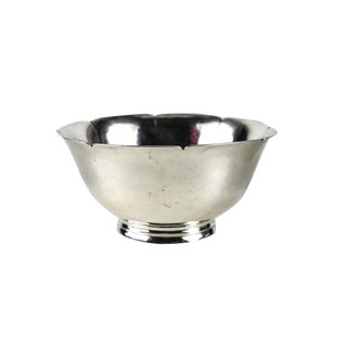 Porter Blanchard Sterling Silver Hand Hammered Petal Form Footed Bowl, Circa 1940