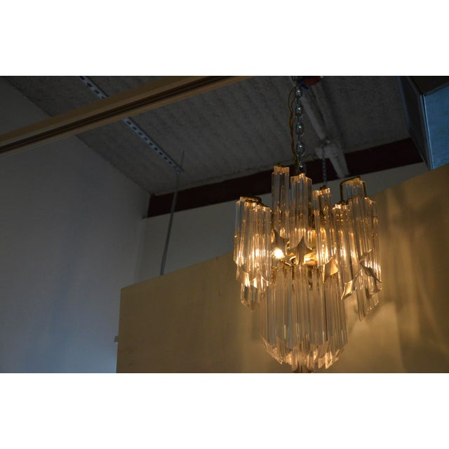 Lucite Waterfall Chandelier - Image 6 of 7