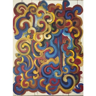 Contemporary Abstract Swirling Composition Original Painting