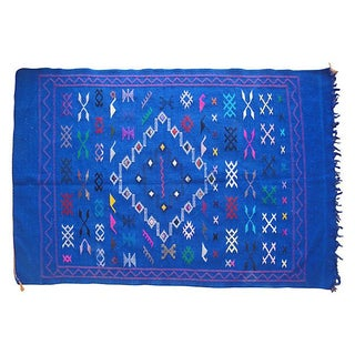 Moroccan Blue Berber Rug - 4'9'' X 3'2''