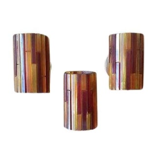Mid-Century Resin Sconces Lamps - Set of 3