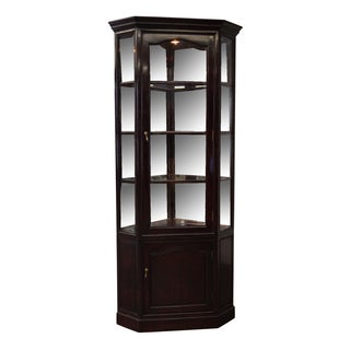 Chinese Rosewood Traditional Corner Curio Cabinet