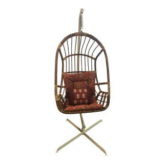 Vintage Boho Rattan Hanging Chair