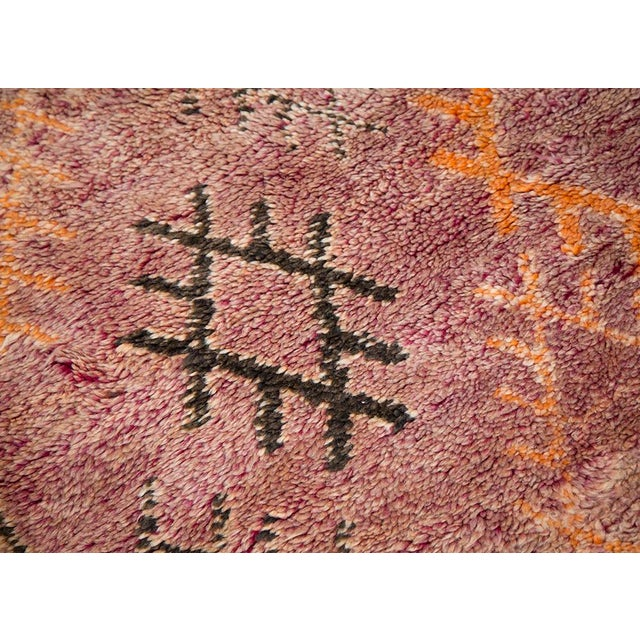 Purple Rug Australia: Faded Purple Diamond Moroccan Rug - 6′1″ × 9′2″