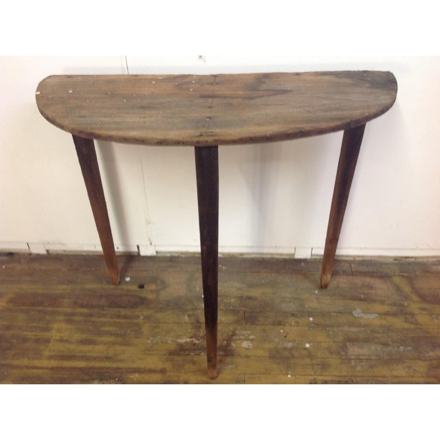 shabby half round accent table chairish. Black Bedroom Furniture Sets. Home Design Ideas