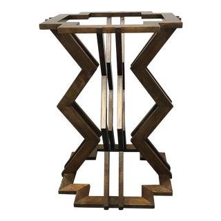 Custom Walnut Ziggurat Table Base