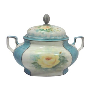 Art Deco Hand Painted Bavarian Porcelain Soup Tureen