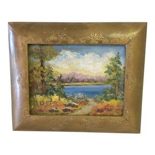 Ruby Dobesh Miniature Landscape Oil Painting